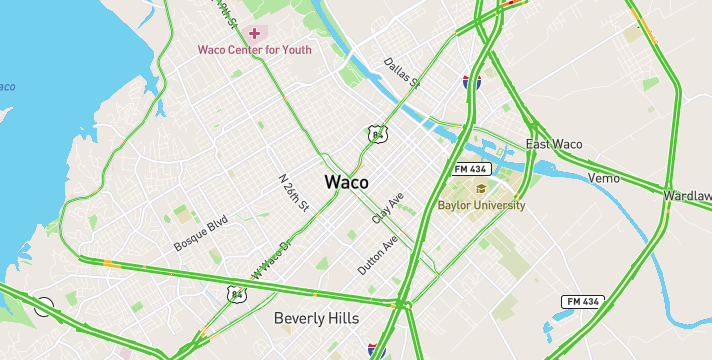 What is the traffic like in Waco, TX?